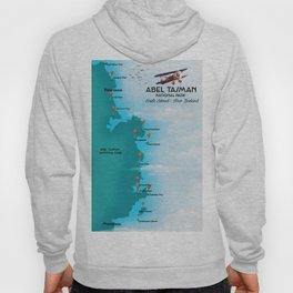 Abel Tasman,new Zealand travel poster. Hoody