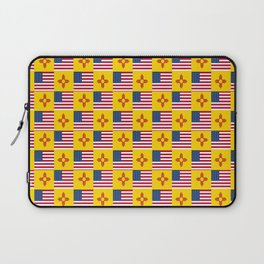 Mix of flag: USA and new mexico Laptop Sleeve