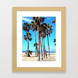 Graffiti Palms Framed Art Print