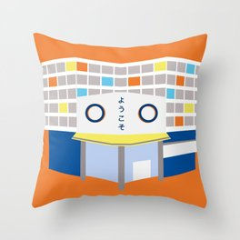 japanese mall Throw Pillow