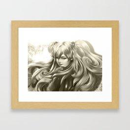 Asuka Black and White Framed Art Print