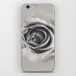 Black and White Rose iPhone Skin