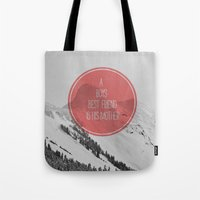 best friend Tote Bags featuring best friend by Jesse Robinson Williams