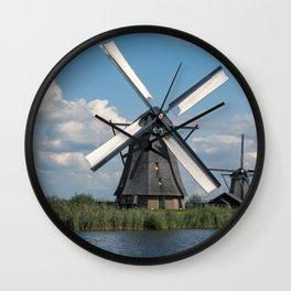 Summer in Kinderdijk Wall Clock