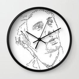 Matthew Bellamy WordsPortrait Wall Clock