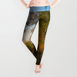 Smoky Morning - Whimsical Scene in Great Smoky Mountains Leggings