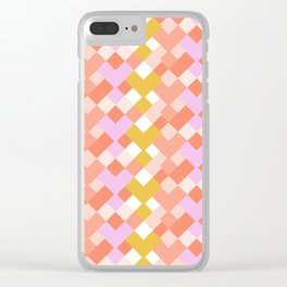 Geometic Summer Pattern Clear iPhone Case