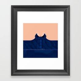 Lingeramas - Sexy Navy Blue Lingerie Top Framed Art Print