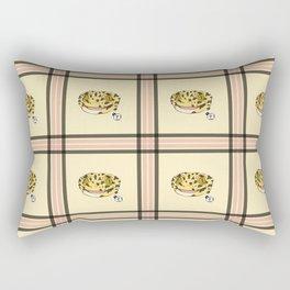 Leopard Gecko Plaid Rectangular Pillow