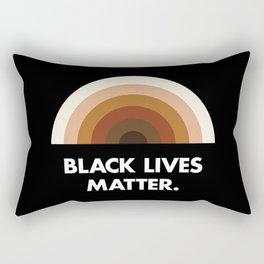 Black Lives Matter Rainbow Rectangular Pillow