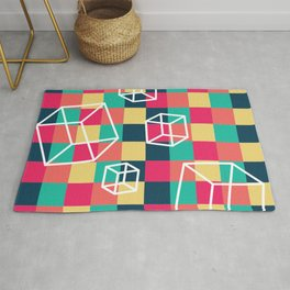 Cubes and Color II Rug
