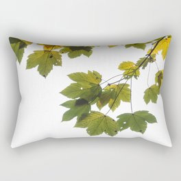 Green And Yellow Maple Leaf Rectangular Pillow