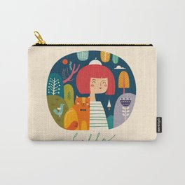 Girl with Cat Carry-All Pouch