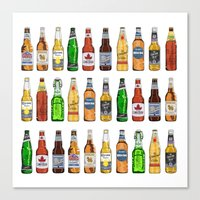 beer Canvas Prints featuring BEER by BearandBugle
