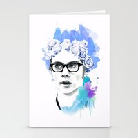 dylan Stationery Cards featuring Dylan by Natalie Oliver