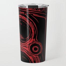 Vintage Rolleiflex (Red/ Black) Travel Mug
