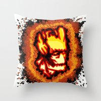 groot Throw Pillows featuring Groot  by grapeloverarts