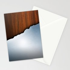 Wooden Brushed Metal Stationery Cards