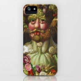 Giuseppe Arcimboldo  -  Rudolf Ii Of Habsburg As Vertumnus iPhone Case
