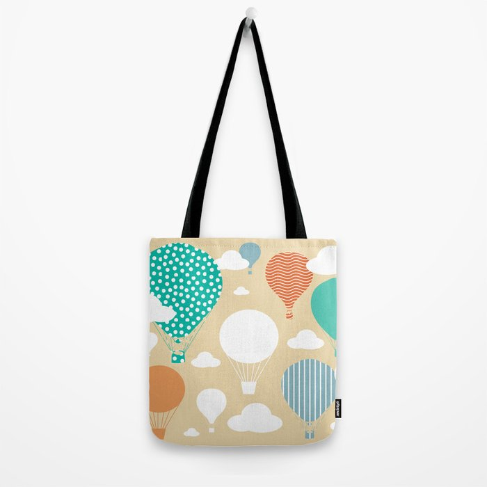 Hot air balloon neutral Tote Bag