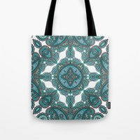 paisley Tote Bags featuring paisley by gtrappdesign