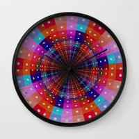 carnival Wall Clocks featuring Carnival  by Laura Santeler
