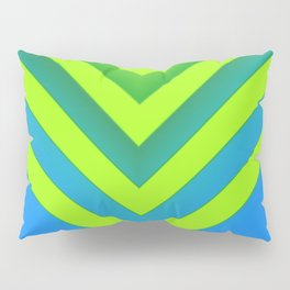 Sky & Lime Chevron Pillow Sham