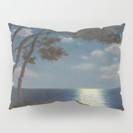 Classical Masterpiece 'Moonlight on the Water' by Ivan Fedorovich Choultsé Pillow Sham