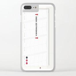 Art Work 01A Clear iPhone Case