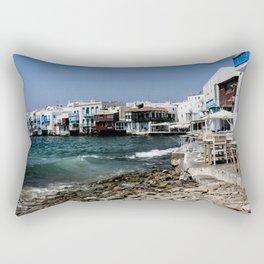 Mykonos Town Rectangular Pillow