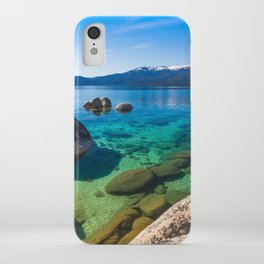 Let's Jump In At Sand Harbor, Lake Tahoe iPhone Case