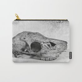 Whitetail Deer Skull (Doe) - 8x10 Tintype Photo Carry-All Pouch