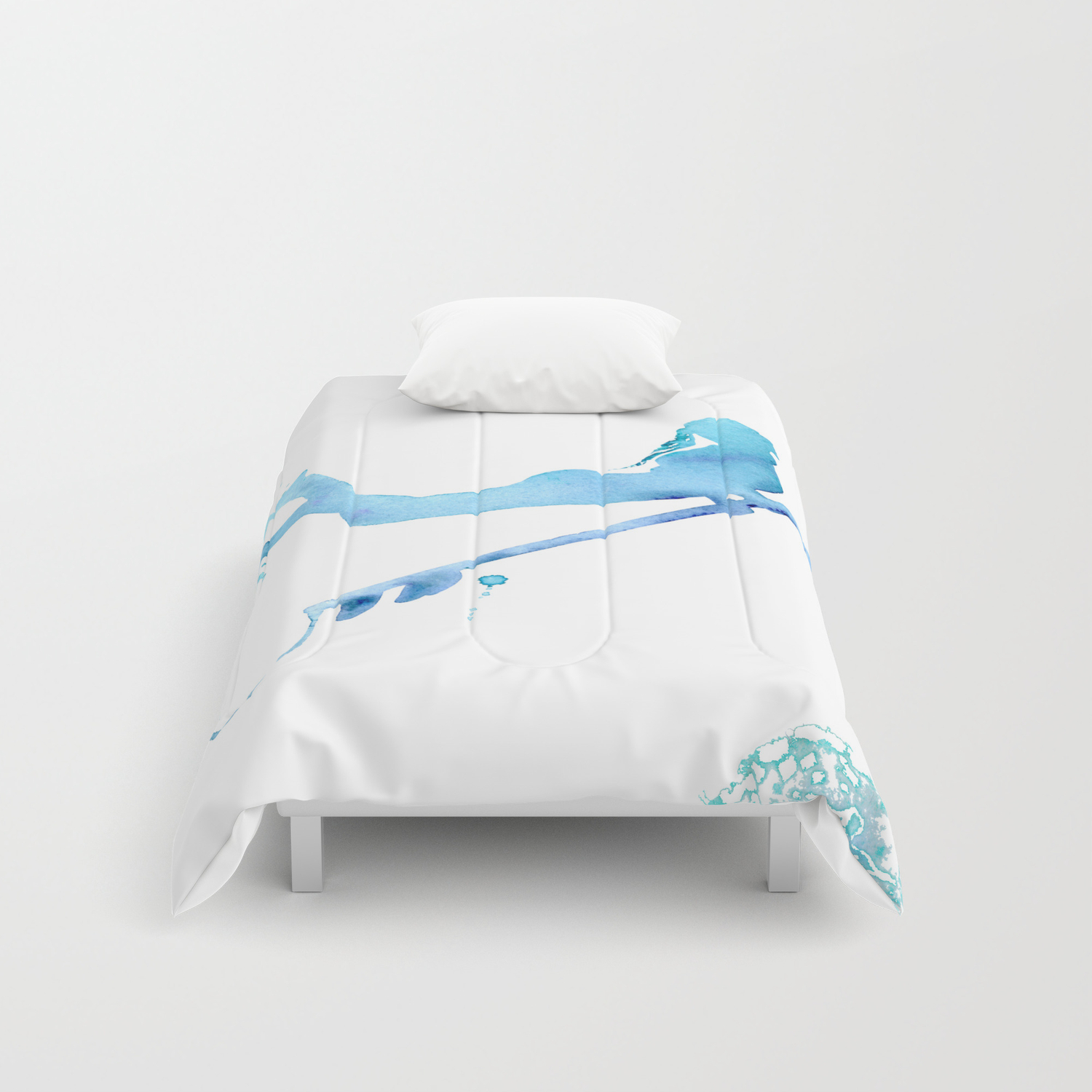 824fd9caa2950 Duck Diving - Surf Art of Surfer Girl Comforters by coraillustration    Society6