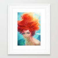 under the sea Framed Art Prints featuring Under The Sea by Artgerm™