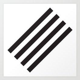 Dark Stripes Art Print