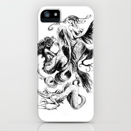 Mermaids and Harpies iPhone Case