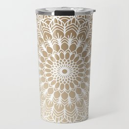 Gold Mandala 19 Travel Mug