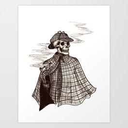 Sherlock Bones Art Print