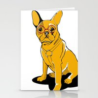 frenchie Stationery Cards featuring Frenchie by andiroses