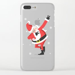 Santa Dabbing chrismast shirts Clear iPhone Case