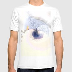 meeting on the blue planet MEDIUM White Mens Fitted Tee