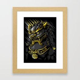 Gold Dragon Framed Art Print