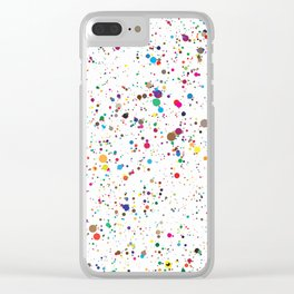 MULTICOLORED INK SPLOTCHES Clear iPhone Case