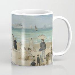 Edouard Manet - On the Beach, Boulogne-sur-Mer Coffee Mug