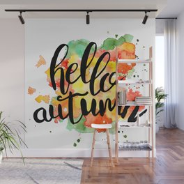 Hello Autumn Wall Mural
