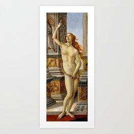 "Sandro Botticelli ""The Calumny of Apelles"" detail Art Print"