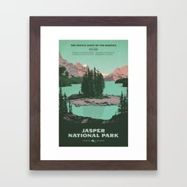 Jasper National Park Poster Framed Art Print