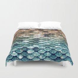Mermaid Tail Teal Ocean Duvet Cover