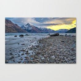 Sunset at Lake Wakatipu Canvas Print