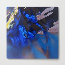 Deep Blue Glass Metal Print